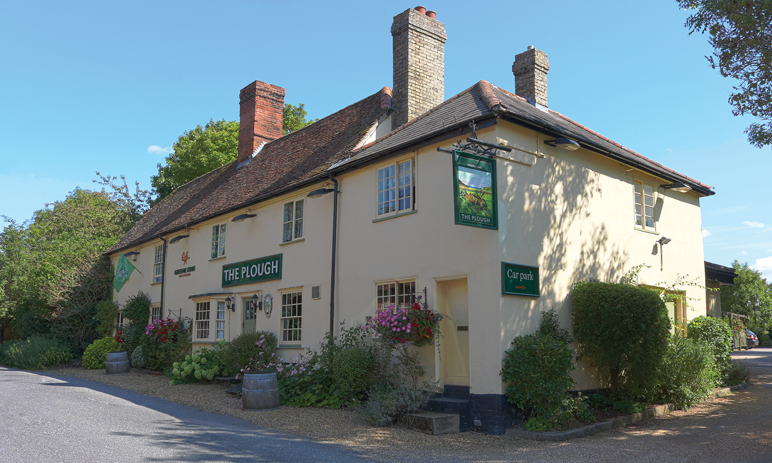 Outside view of The Plough, Great Chesterford