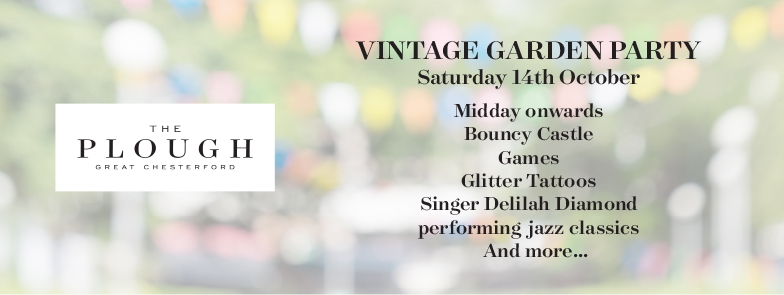 Vintage garden party hosted at The Plough, Great Chesterford