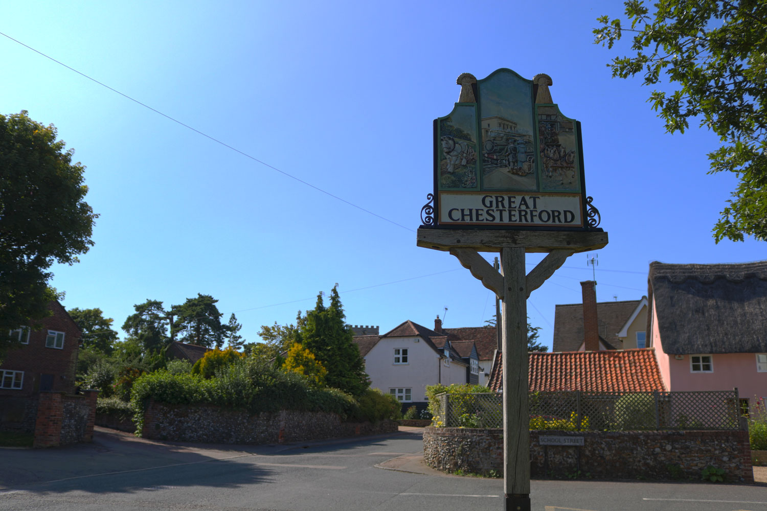 The Plough - Great Chesterford Sign