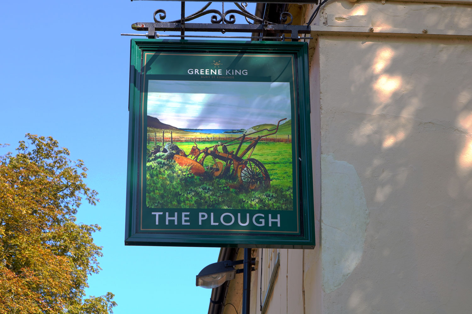 The Plough - Sign Outside of Building