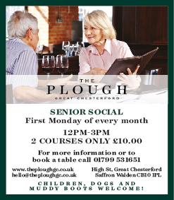 The Plough at Great Chesterford, Senor Social Event
